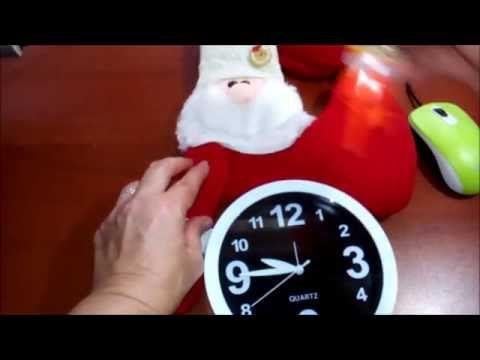 Reloj Navideño con adorno de noel parte 2 - YouTube