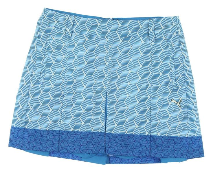 Get geometric on the course with this blue beauty! Spring is coming, so  gear up with this skort at a bargain price with Swing Golf! NEW Women's Puma  Wind ...