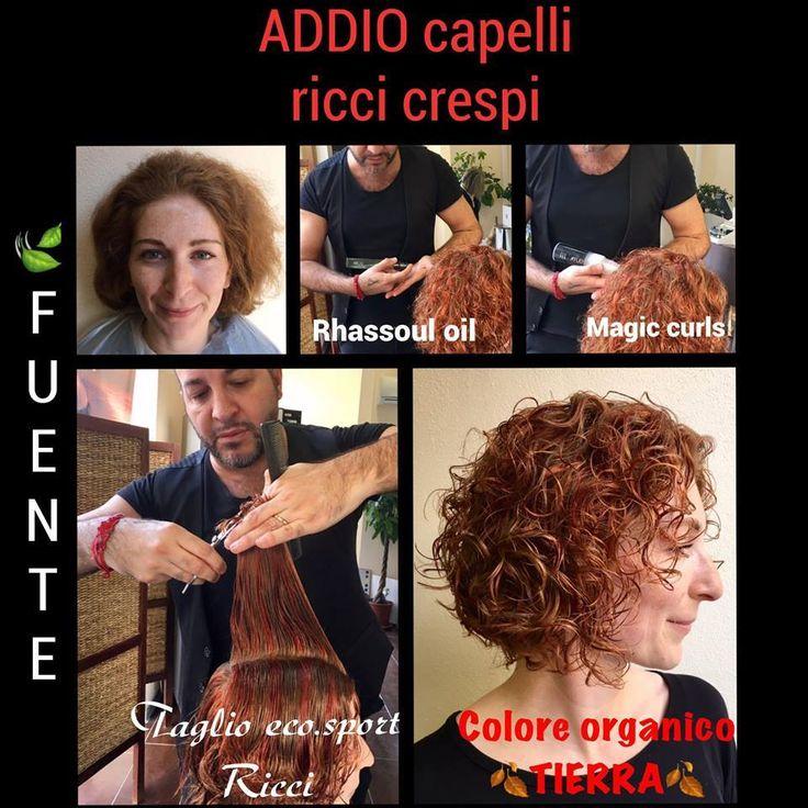 Gigi Les Autres all'opera con Tierra by Fuente, il vero Colore Organico per il benessere dei vostri capelli. E con un goccio dello styling Magic Curls... ricci sempre fantastici!