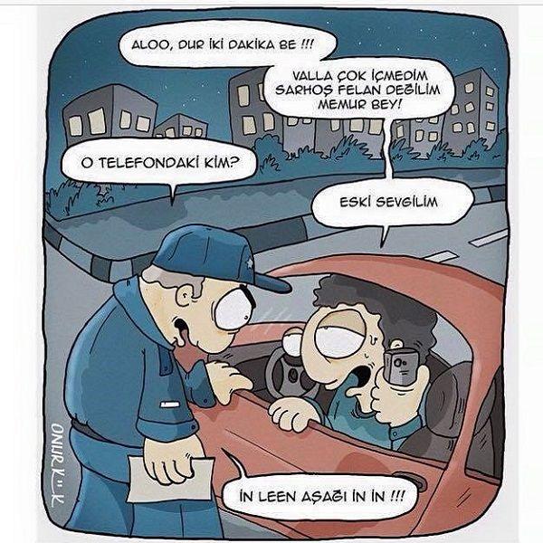 Alkol Muayenesi Karikatürü Onur Kök