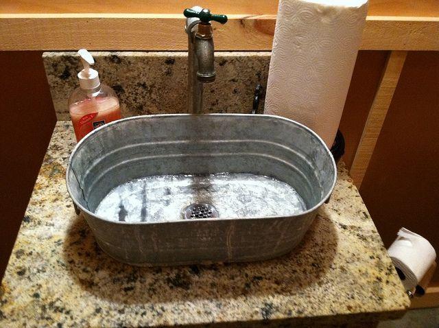 Metal Tub Sink. This Is What Iu0027m Thinking In My Bathroom U2026