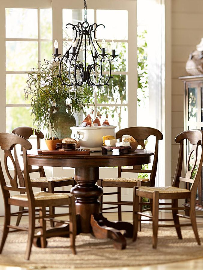 Gather around the table potterybarn dining rooms pinterest table and chairs pedestal - Houston dining room furniture ideas ...