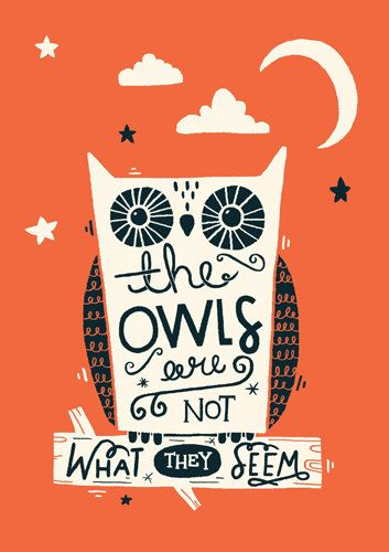 A4 Twin Peaks Art Print  'The owls are not what by stephsayshello, £12.00