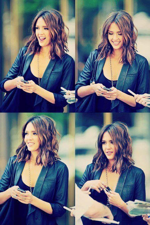 Jessica Alba... Love everything about her hair.