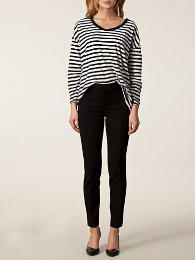 Lisa Pants - Moschino Cheap & Chic - Svart - Byxor & Shorts - Kläder - Kvinna - Nelly.com