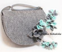 torebka z kwiatkiem plus opaska i bransoletka
