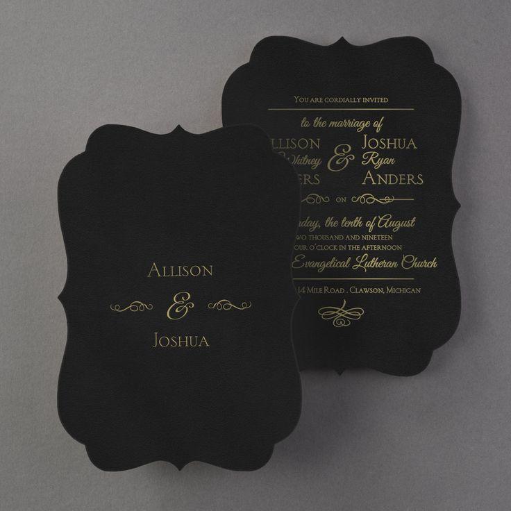 Black velvet A unique crest shape Foil
