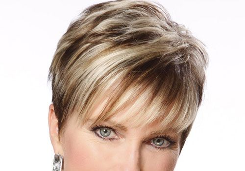 short hairstyles without bangs : ... Pinterest Brown hair with blonde, Short brown hair and Highlights