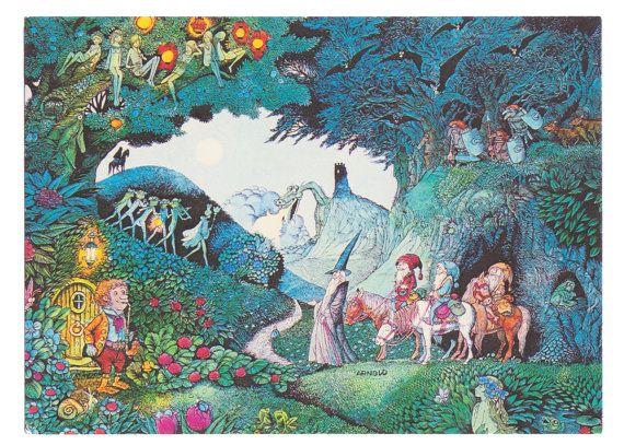 Vintage Tolkien Illustration by Swedish artist por thecedarchest