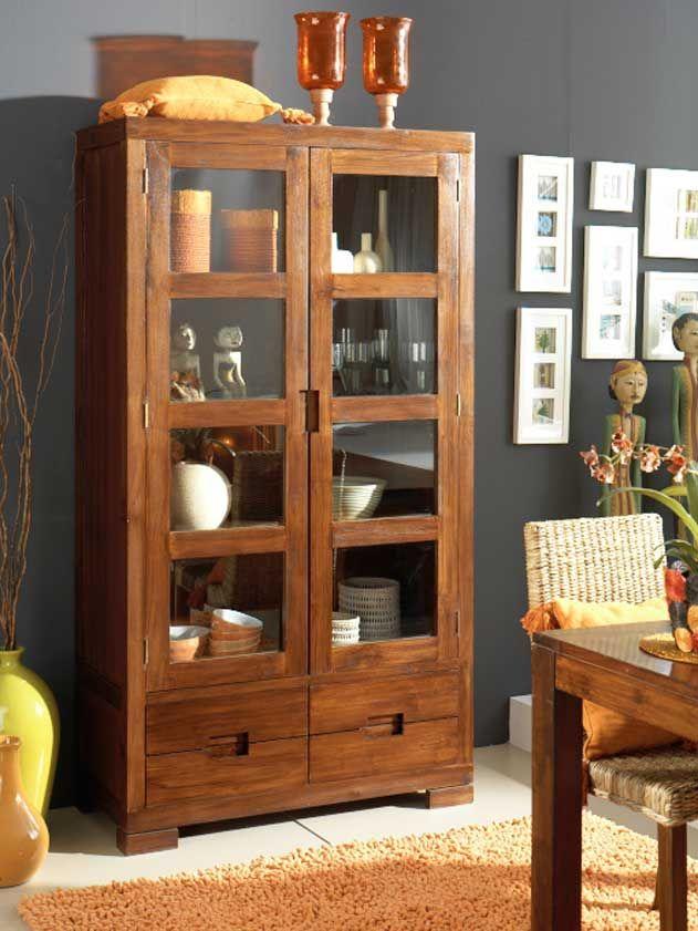 18 best muebles de salon comedor en madera de nogal images for Muebles madera teca
