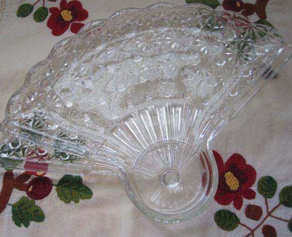 Vintage Anchor Hocking Fan Shaped Luncheon Or Snack By Apotofbasil 16 00 Fine China