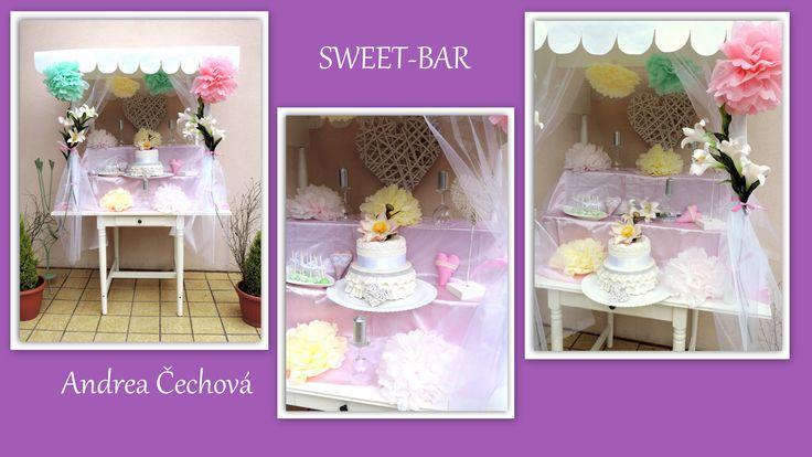 sweet bar, party bar, sladký narozeninový bar