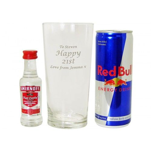 Personalised Vodka and red Bull Gift Set  from www.personalisedweddinggifts.co.uk :: ONLY £17.95