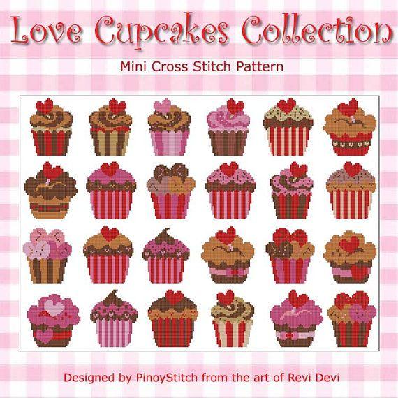 Love Cupcakes Gigantic Collection Cross Stitch PDF par PinoyStitch