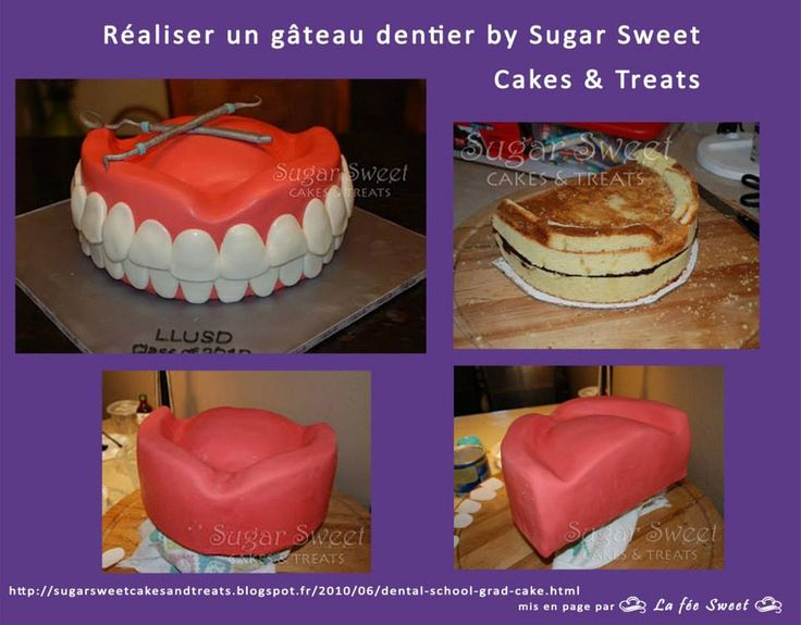 http://sugarsweetcakesandtreats.blogspot.fr/2010/06/dental-school-grad-cake.html