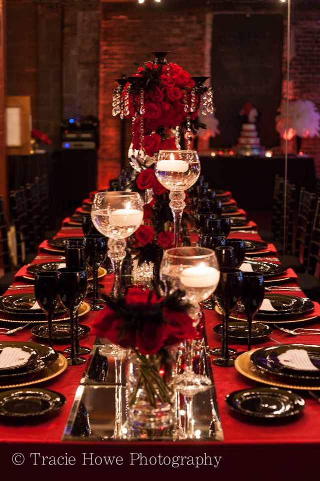 Our square table mirrors make a great runner down a long table setting.
