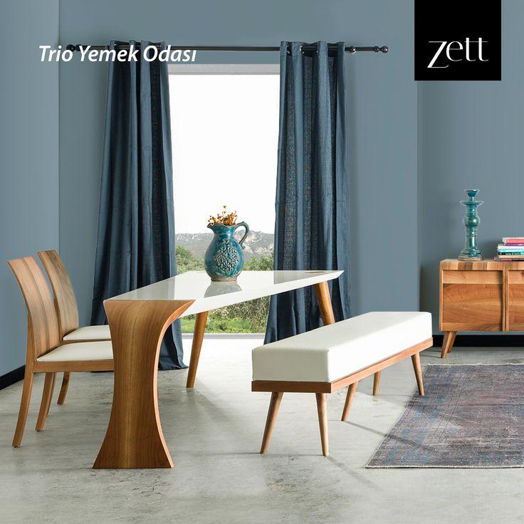 Masasındaki üç ayak yapısıyla alışılmışın dışında yeni bir tasarım. #zettdekor #mobilya #furniture #ahşap #wooden #yatakodasi #bedroom #yemekodasi #diningroom #ünite #tvwallunits #yatak #bed #gardrop #wardrobe #masa #table #sandalye #chair #konsol #console #dekor #decor #dekorasyon #decoration #koltuk #armchair #kanepe #sofa #evdekorasyonu #homedecoration #homesweethome #içmimar #icmimar #evim #home #inegöl #bursa #turkey
