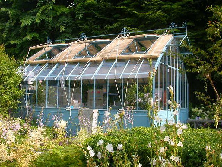 Les 155 meilleures images propos de serre sur pinterest for Serre de jardin fer forge