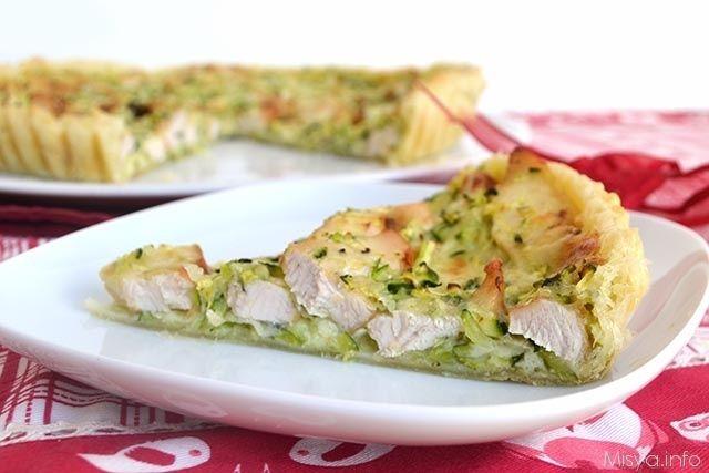 Torta salata con pollo e zucchine, scopri la ricetta: http://www.misya.info/2015/09/04/torta-salata-con-pollo-e-zucchine.htm