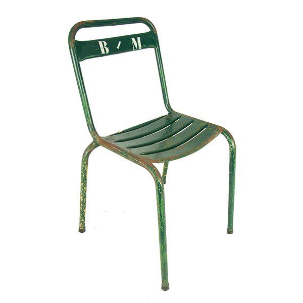 Industriële metalen stoel -  Accessoires  Pinterest