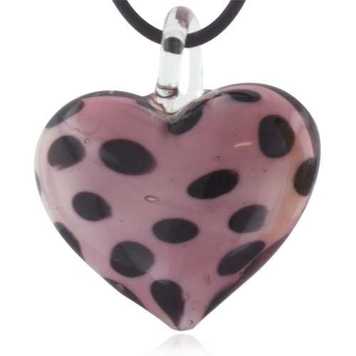 Pugster Murano Glass Light Purple Spotted Heart Pendant Necklaces Pugster. $20.39. Excellent for all ages and any occasion. Perfect for Women, girls. Murano glass pendant. Made in China. Gorgeous for gifts