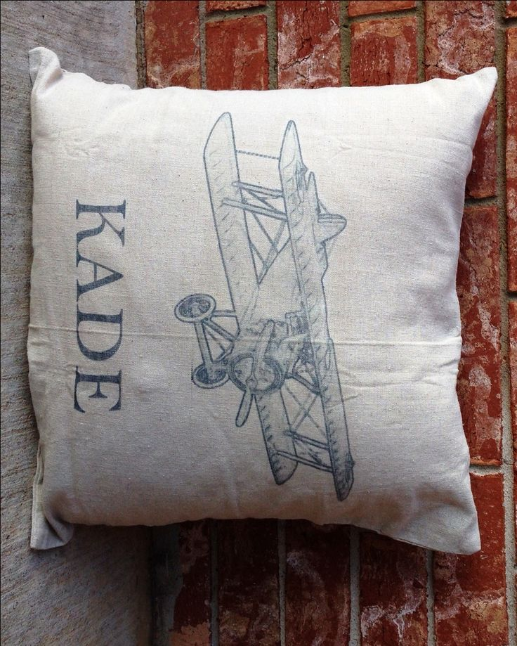 """PERSONALIZED Vintage Airplane Pillow in NAVY, Baby Shower Gift, Name Pillow, Custom Pillow, Linen Pillow, 18"""" x 18"""", Pillowcase ONLY by HelloGirlBoutique on Etsy https://www.etsy.com/listing/259189035/personalized-vintage-airplane-pillow-in"""