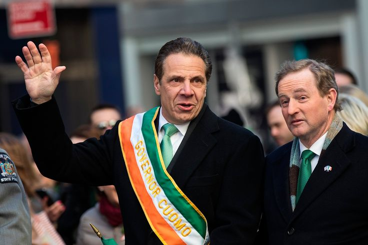 St Patrick's Day 2017: World goes green to celebrate Ireland's patron saint  -      NEW YORK, NY - MARCH 16: (L to R) New York Governor Andrew Cuomo and Irish Prime Minister Enda Kenny march in the annual St. Patrick's Day parade on 5th Avenue, March 17, 2017 in New York City. The New York City St. Patrick's Day parade, dating back to 1762, is the world's largest St. Patrick's Day celebration. (Photo by Drew Angerer/Getty Images)  Credit: Getty Images  Copyright: 2017 Getty Images