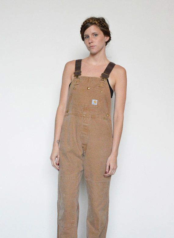 Carhartt CANVAS Overalls / Carhartt OVERALLS / Tan by shopfuture