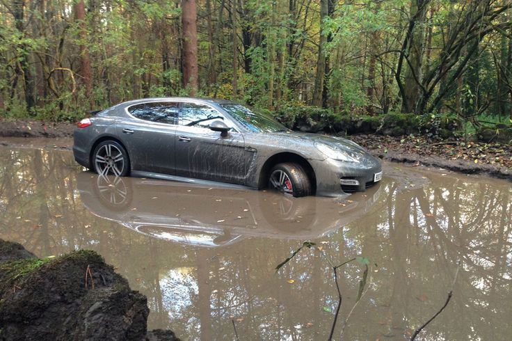 Pictured: Liverpool's Andre Wisdom abandons £100k Porsche in muddy woods after getting lost on way to Derby County stadium