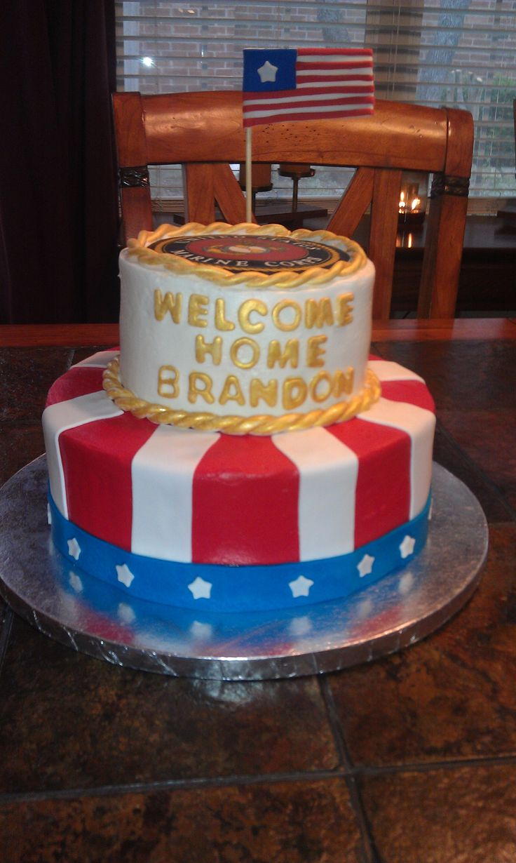 13 best welcome home cake images on pinterest welcome for Welcome home cake decorations