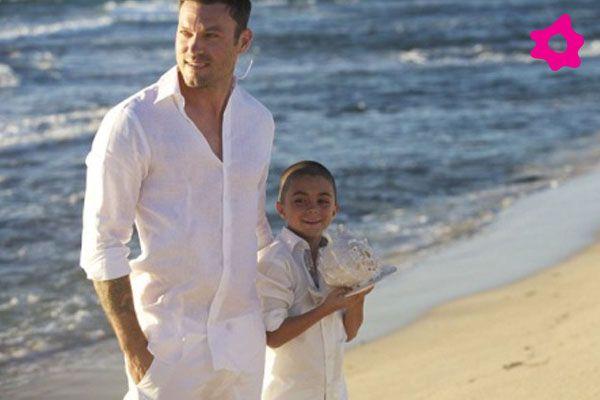 El hijo de Brian, Kassius, fue el padrino de la boda entre su padre y su ahora madrastra Megan Fox.