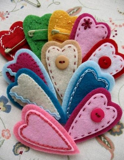 Simple Homemade St`Valentines day crafts.