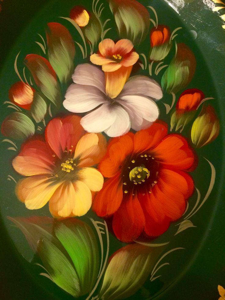Цветы на подносе🌸🌺