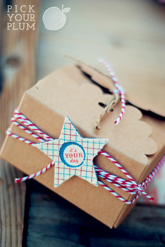 Brown paper packages tied up with string...these are a few of my favorite things!!! LOVE these!     Add some washi tape to this... ...very cute!                pickyourplum.com