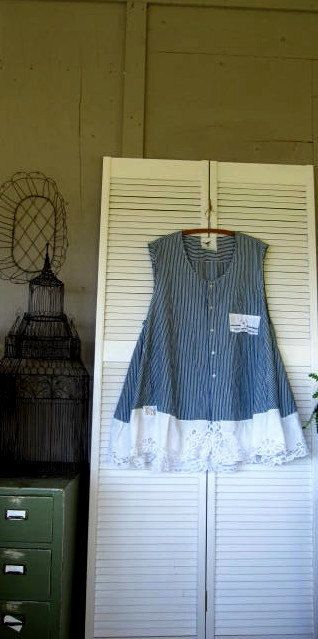 Bohemian upcycled top Romantic French dress by lillienoradrygoods, $89.50