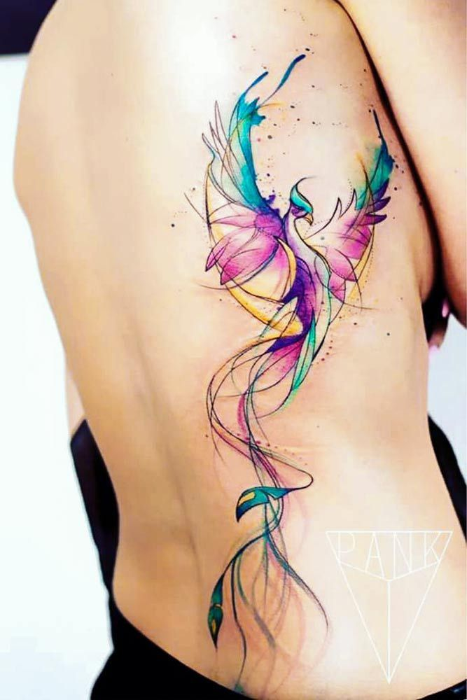 33 Amazing Phoenix Tattoo Ideas With Greater Meaning Watercolor