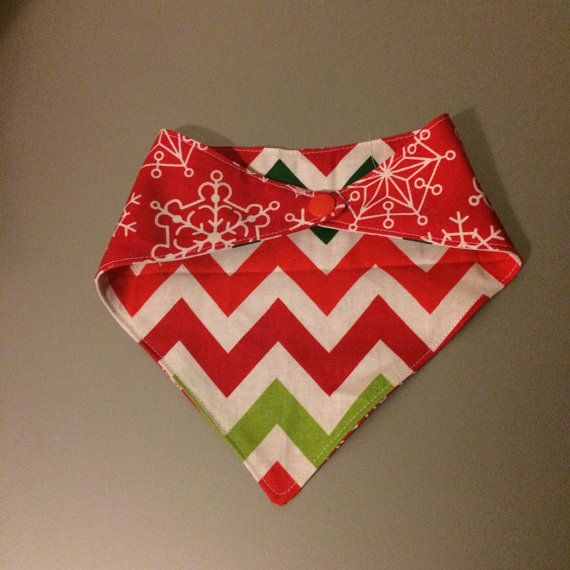 Reversible Christmas Bandana Bib by ReenieAndBella on Etsy