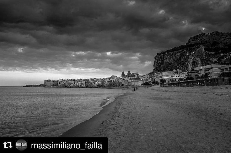 La spiaggia di Cefalù in inverno fotografata da @massimiliano_failla Visitate la sua gallery!  #Repost with @repostapp  TAG#moresicily #cefalu #palermo #sicily #igerspalermo #igers #instagramers #igerssicilia #volgosicilia #vivosicilia #ig_visitsicily #sicilianjourney #instatravel #igtravel #travelgram #tourism #tourist #travel #instasicily #sicilianinsta #insicily #sicilytourism #sealovers #sea #clouds #winter #skylovers #sky #landscape