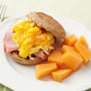 300 cal breakfast! Better than greasy fast food breakfast sandwich, no comparison!