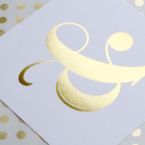Gold Foil Ampersand Art Print