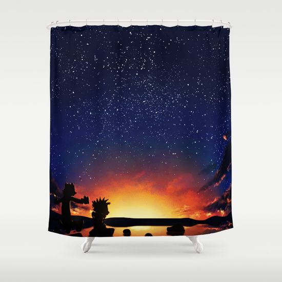 Calvin And Hobbes With Starry Night - $68