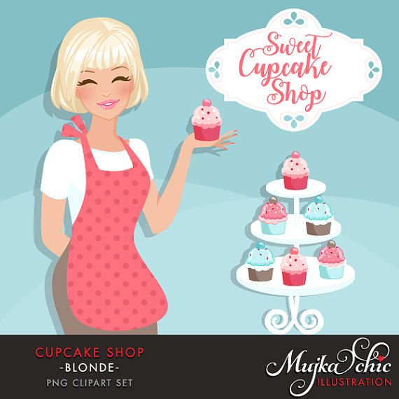Best Of Cute Girl Clip Art Medium Size - Baking Cupcakes Clip Art - Free  Transparent PNG Clipart Images Download