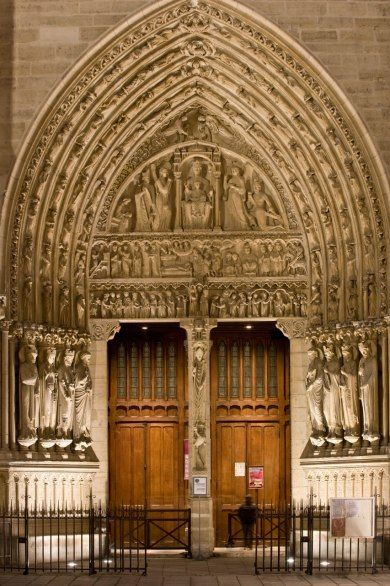The St. Anne Portal at Notre Dame