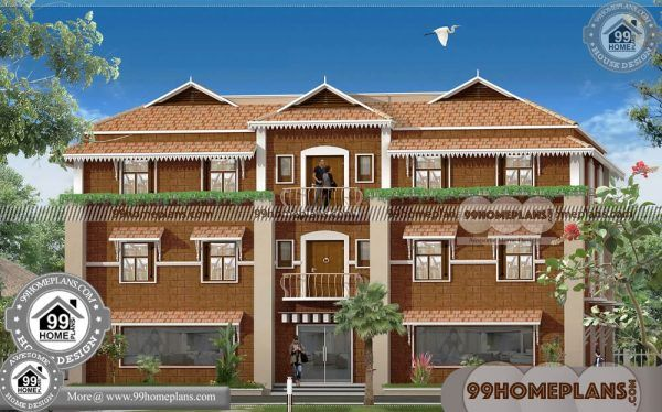 House Designs Kerala Style Low Cost 3 Storey Traditional Kerala Homes Duplex House Design Small House Front Design House Design Pictures
