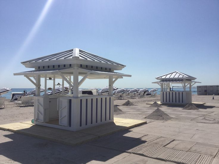 17 best images about edition miami beach beach equipment for Beach hut plans