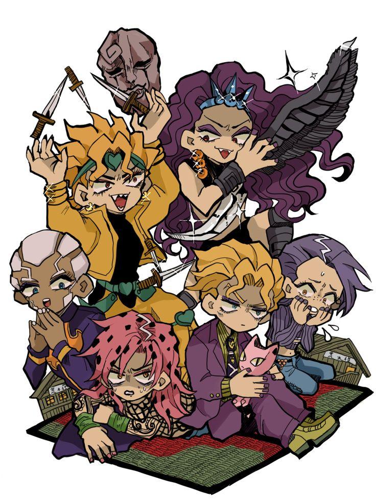 Bad - JJBA - Dio Brando - Kars - Yoshikage Kira - Diavolo - Vinegar Doppio - Enrico Pucci - Gud art - good characters - fave characters