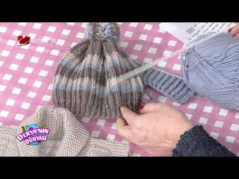 Şal yaka yelek ve bere yapımı hatunzade.com - YouTube