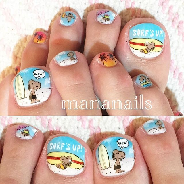 """""""surf's up snoopy #snoopy #surfsup #surfing #surfboard #surf #スヌーピー #サーフィン #サーフボード"""" Photo taken by @mananails on Instagram, pinned via the InstaPin iOS App! http://www.instapinapp.com (07/29/2015)"""