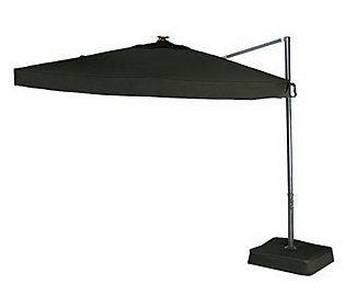 Southern Casual Olefin Offset Umbrella W/ Solar LED Lights U0026 Base