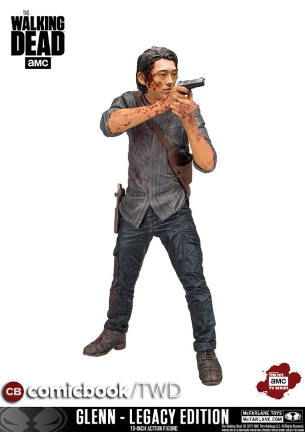 "New Walking Dead Figures Featuring 10"" Glenn & 5"" 3-Pack"